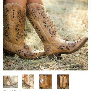 Corral Boots Antique Saddle Brushed Laser
